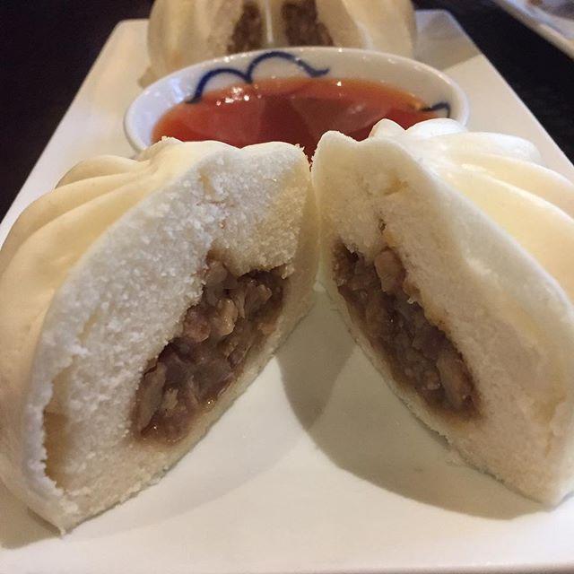 Amazing steamed pork buns at Eight Cuisine in Sebastopol