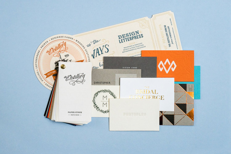 business card sample pack the distillery