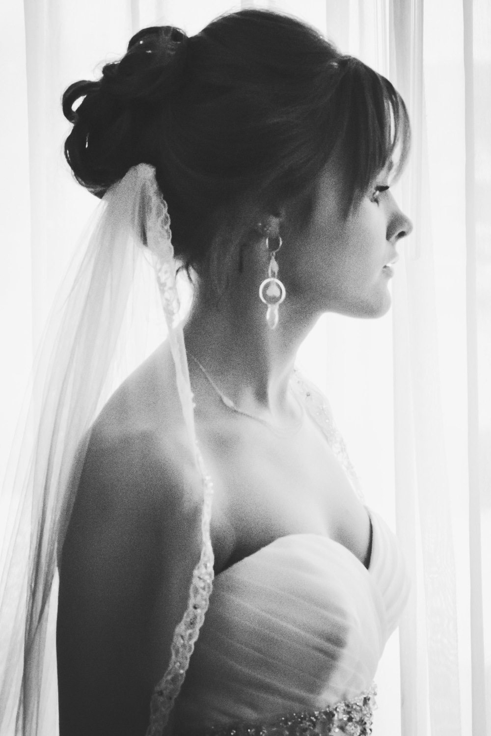 Romantic Bridal Portrait Window