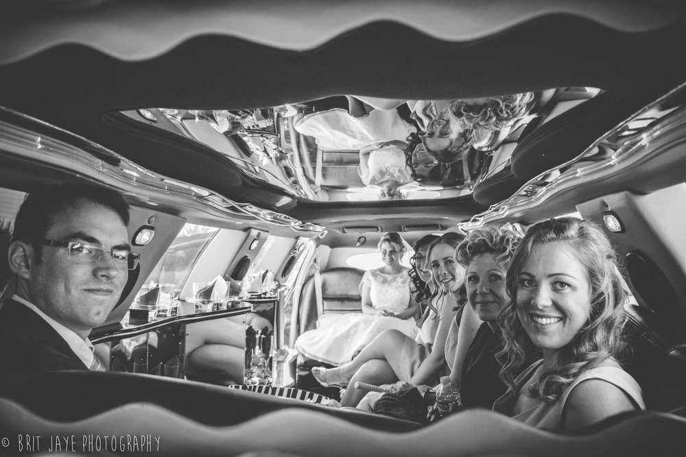 Bridal Party Limo Photo