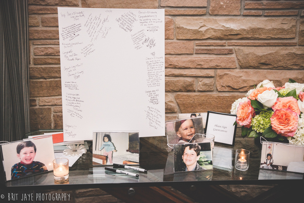 TheMarineRoomWeddingReceptionGuestbook