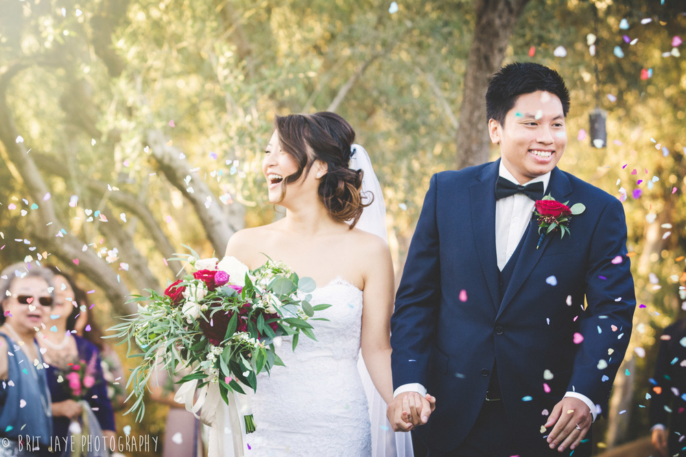 Heart Shaped Confetti Estate WEdding OrangeCountyCA