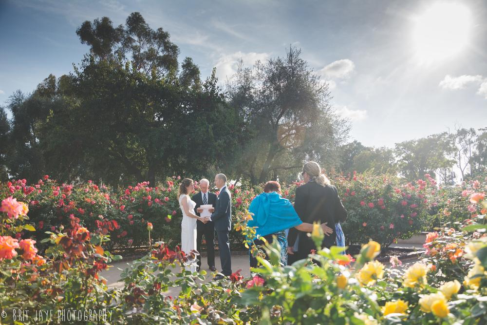 Balboa Park Wedding In The Rose Garden San Diego Wedding