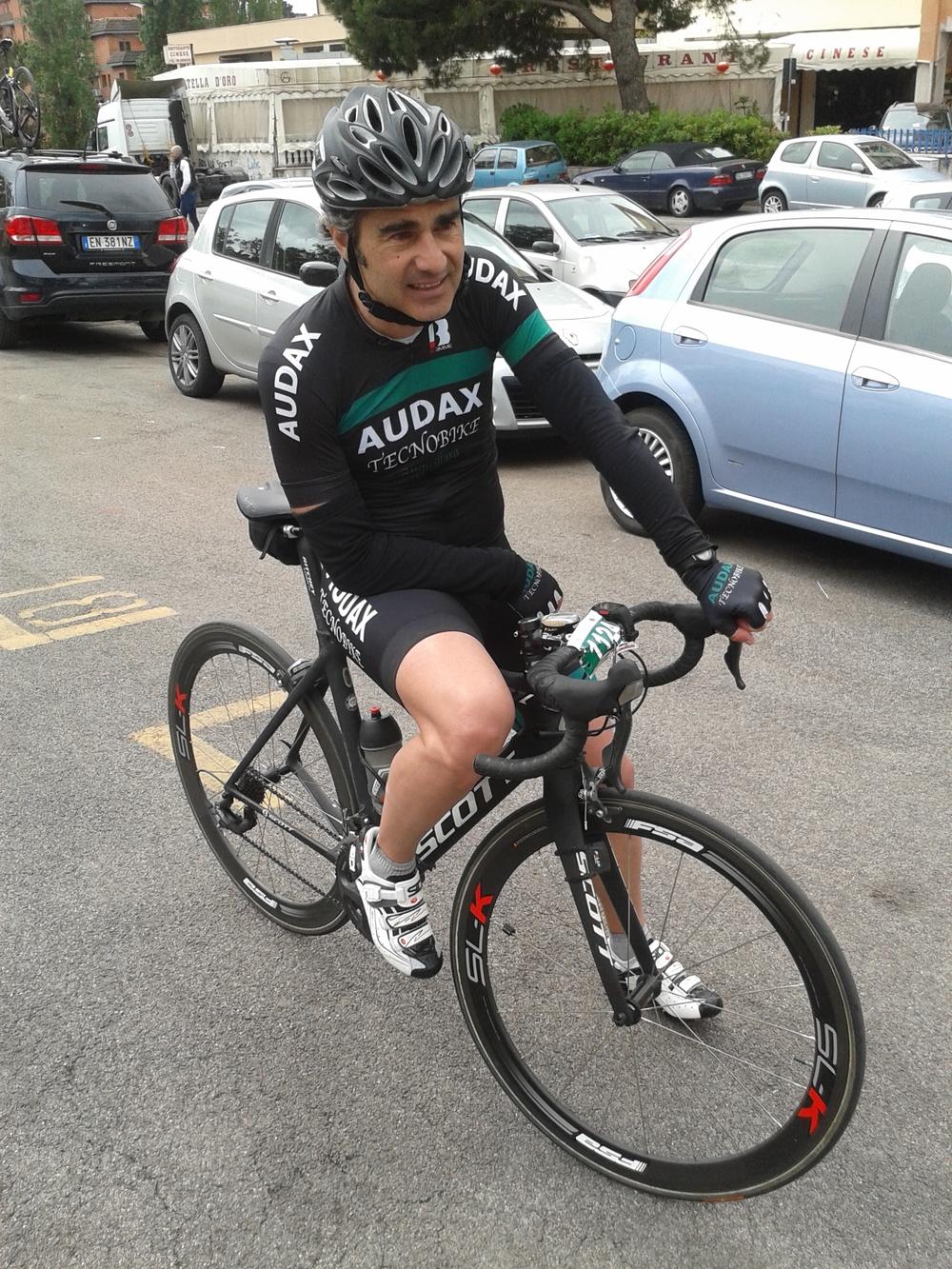 Lamberto D'Andrea, stanco ma soddisfatto dopo la sua buona prova sul percorso lungo!