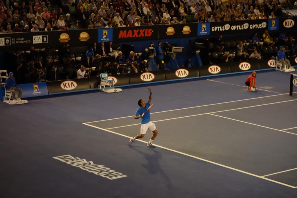 Federer on serve