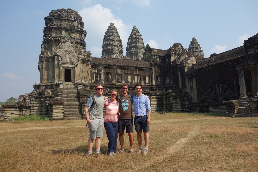 The gang at Angkor Wat