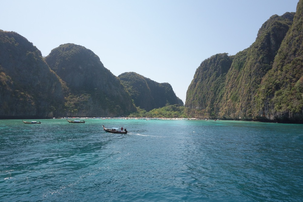 "Maya Bay, setting for the ""The Beach"""