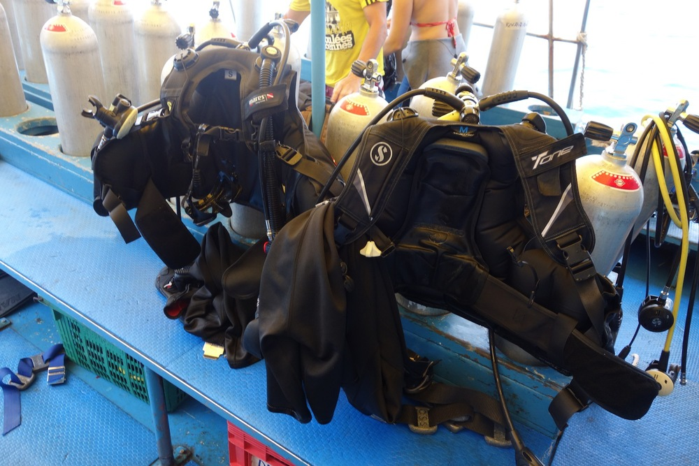 Our scuba gear