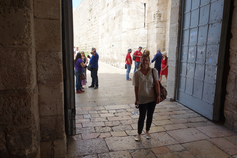 The Jaffa Gate, where Whitney's grandfather marched behind Allenby many years ago