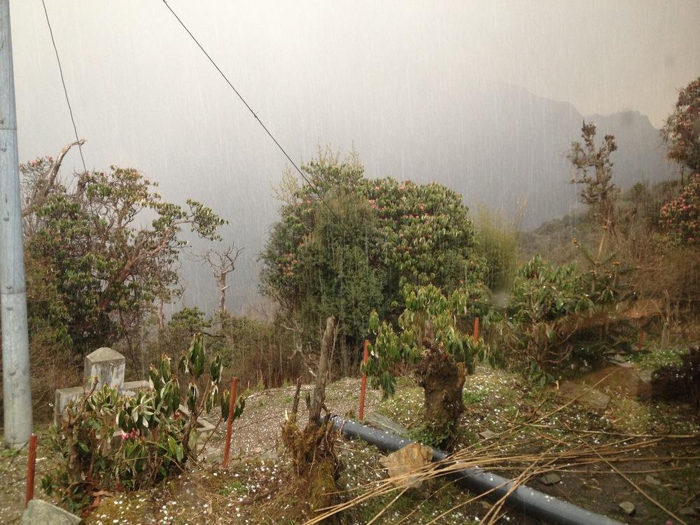 Himalayan hail storm