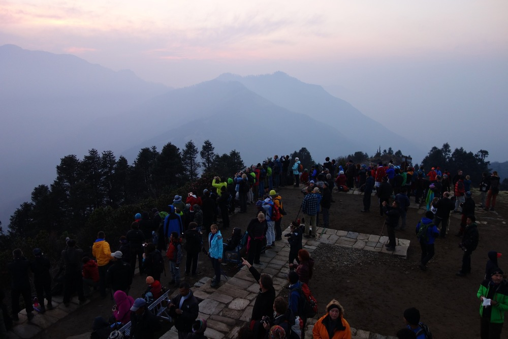 The tranquility of the mountains... with 300 other people
