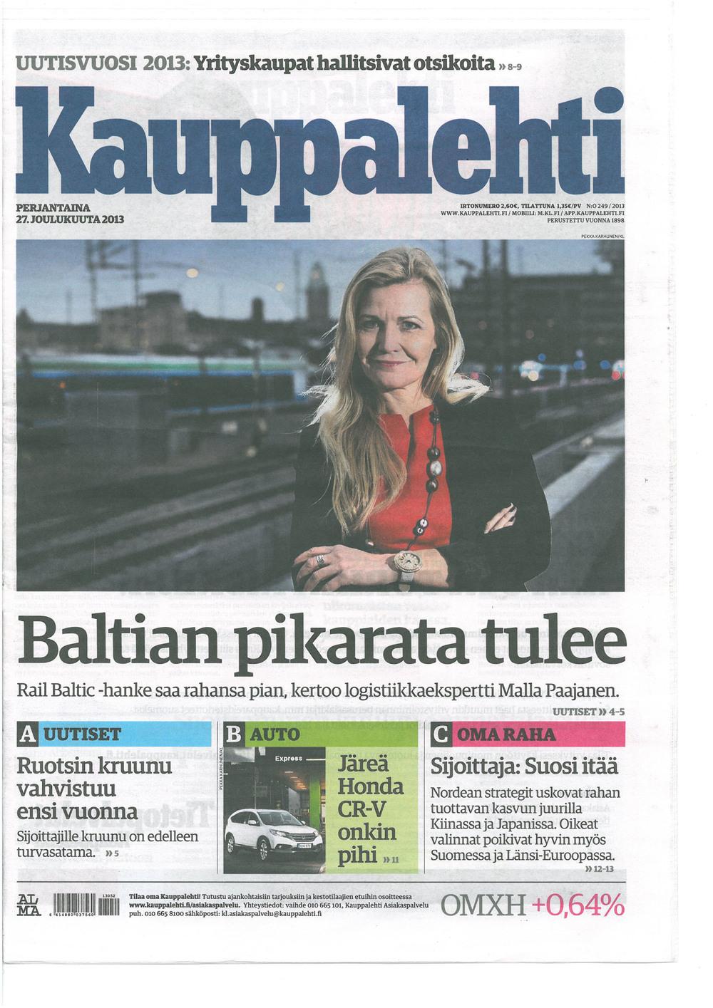 Kauppalehti (FI) on 27.12.2013.