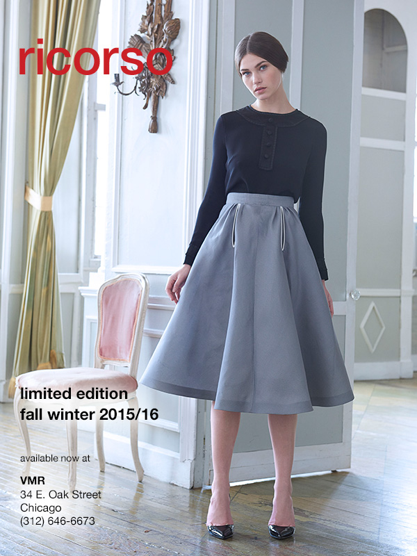 The D Skirt.Always make an entrance.Available now as part of our limited run fall/winter collection at VMR (312) 646-6673.