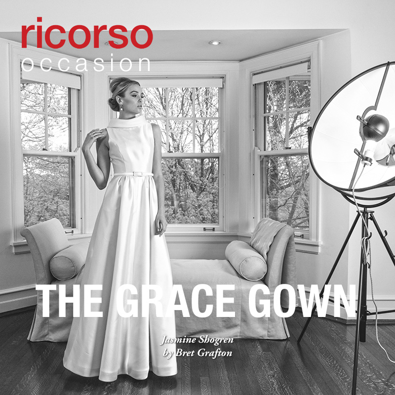 The Grace Gown. Presenting Jasmine Shogren in ricorso occasion 2016 by Bret Grafton. #debutante #cotillion #whitedress #heritage #ballgown