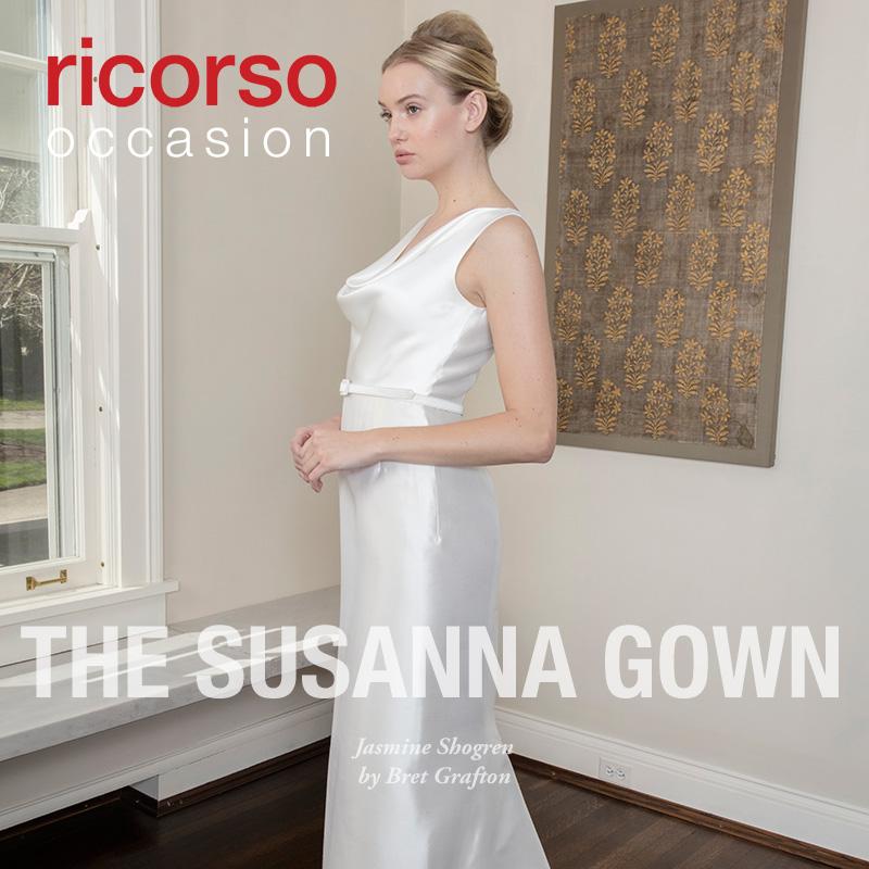 The Susanna Gown. Presenting Jasmine Shogren in ricorso occasion 2016 by Bret Grafton.