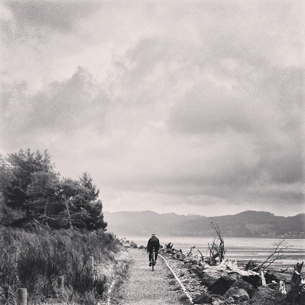 Oregon Coast ride   This weekend's mission: ride from PDX to the coast and scope out the route for the first stage of LIOTR. Secret rocky beach path sprints optional. (at Nehalem Bay State Park)