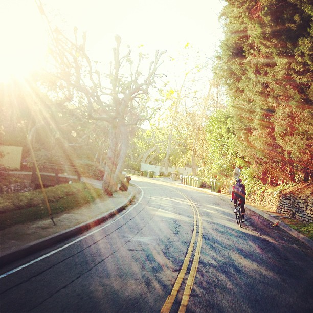 Early LA miles with @helvector (at Mandeville Canyon)