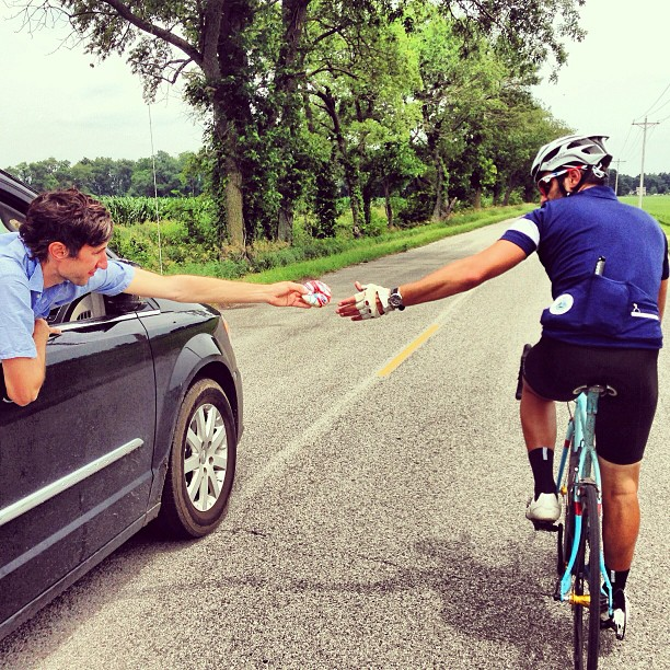 LIOTR Stage 18  We have perfected the team car donut handoff. We are now fully PRO.