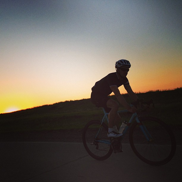 LIOTR Stage 12  Racing the sun. Losing. Not caring. We rode 185 miles through South Dakota today.