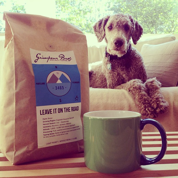 Fight cancer with coffee!   Stanley's dad is riding his bike across the US & he would really appreciate it if you helped fight cancer by ordering some @grimpeurbros LIOTR single origin roast to order coffee. The proceeds go to the Colon Cancer Alliance! More info at grimpeurbros.com, order deadline for this week's roast is 3pm today. (at LIOTR Service Course)