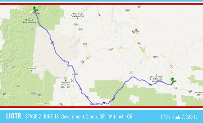 LIOTR Stage 2 Today we'll double back five miles to cover the ground we had to give up when the road was closed last night due to an accident. We'll follow RT 26 all the way to John Day Forest 175+ miles away. We should encounter awesome mountain and canyon views along the way including MT Hood. Stage 2 Dedication John Maillet Jr. was just a few days shy of his 45th birthday when he was diagnosed with stage 4 colon cancer in late February of 2009. Happily married with two teenaged sons—one a senior in high school and the other in junior high—he decided early on that he was not going to let cancer redefine who he was. And, in the two and a half years that followed, he didn't. He continued to work full time, he spent time with his family and friends, and he faced each day with a positive attitude, good humor, strength, and determination. John was an avid sports fan, and he loved the Boston teams: Red Sox, Patriots, Celtics, and Bruins; watching every game he could. John died on June 18th, 2011, three days after gathering with his family and friends to watch his beloved Bruins win the Stanley Cup. He will always be remembered for his love of family and friend, music, and sports.