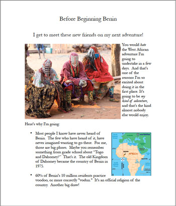 "Download PDF version of ""Before Beginning Benin"", January 7, 2014"