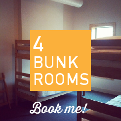 bunk beds, desk, lamp, lockers, a/c, ceiling fan, night light, private en suite bathroom.  Room #22
