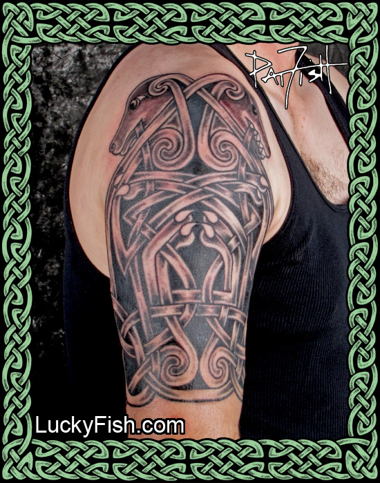 Celtic Dog Half Sleeve