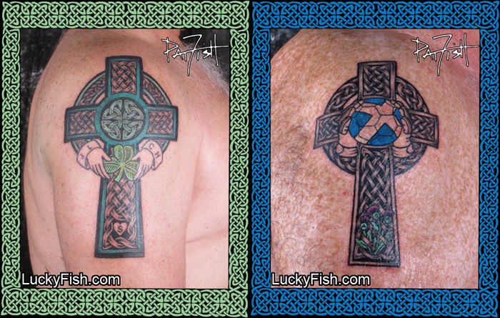 Custom Celtic Cross Tattoos