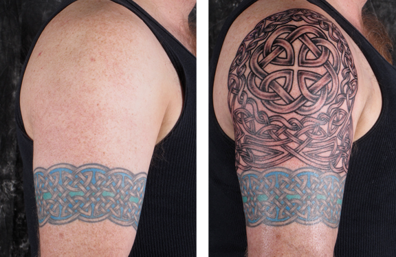 Building a celtic sleeve luckyfish inc and tattoo for 1 4 sleeve tattoo