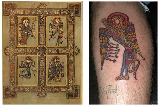 The book of kells tattoos