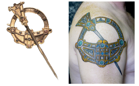 The 'Tara Brooch' and the tattoo inspired by it,  by Pat Fish