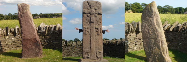 Pictish Stones near Aberlemno, Scotland (and Colin Fraser's arms)