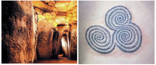 Newgrange Triple Sprirals and Tattoo by Pat Fish - Buy Tattoo Design