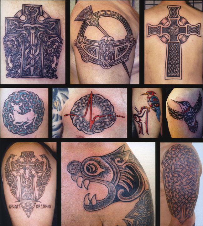 Pat Fish Celtic Tattoos featured in Tattoo World book