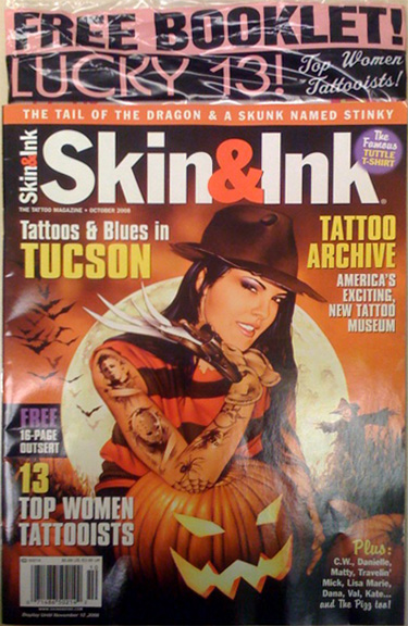 Pat Fish in Skin & Ink Magazine