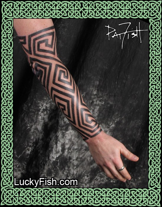 Pictish Tattoo Sleeve by Pat Fish