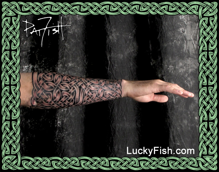 Celtic Knotwork Tattoo Gauntlet