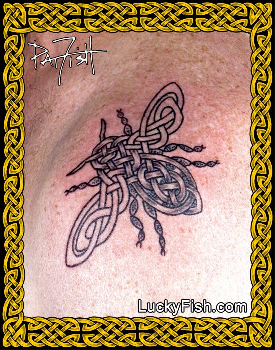 Celtic Bee Tattoo