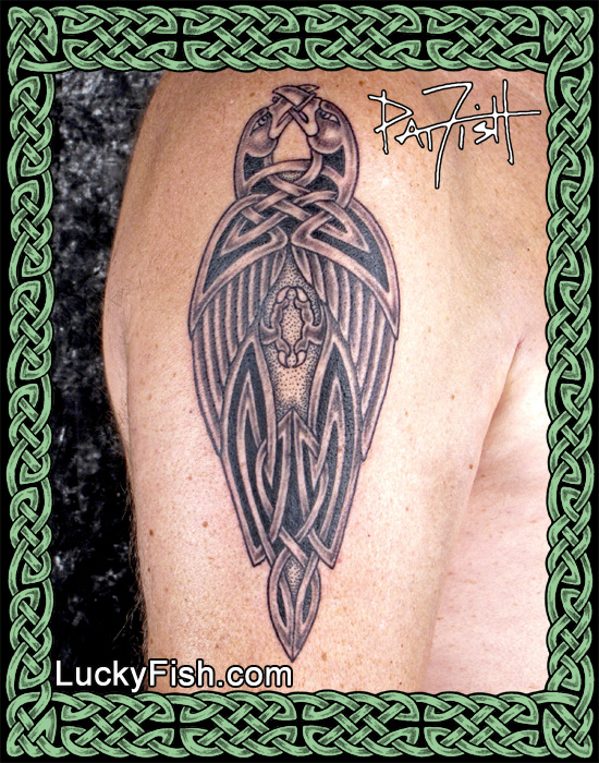 'Dark Powers' Celtic Ravens Tattoo