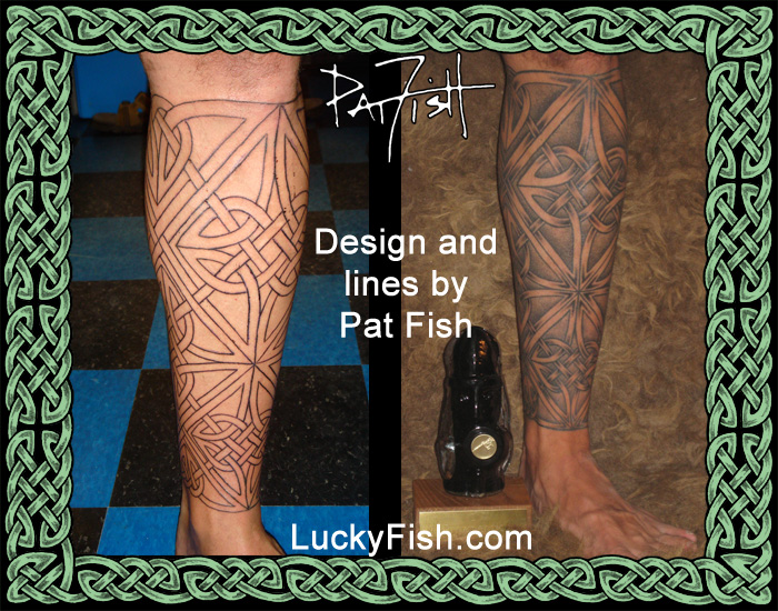 Celtic Star Leg Tattoo