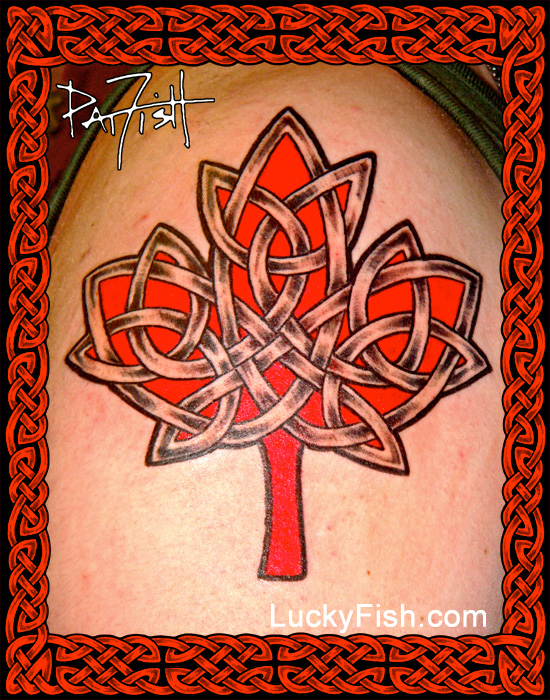 Celtic Canadian Maple Leaf Tattoo