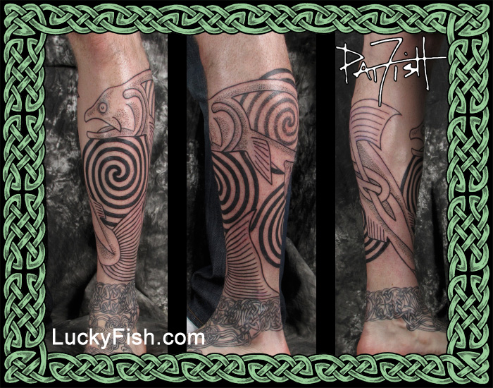 Celtic Salmon of Knowledge Tattoo