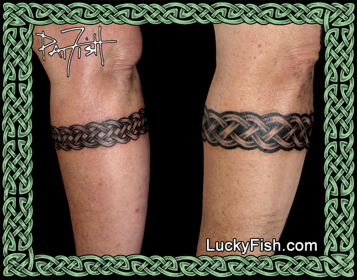 Matching Celtic Wedding Band Tattoos  by Pat Fish