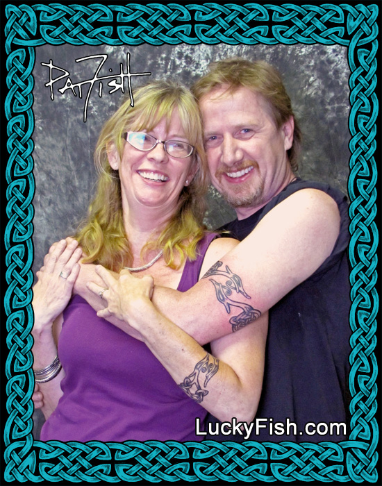 Nordic Dragon Celtic Band Tattoos  by Pat Fish