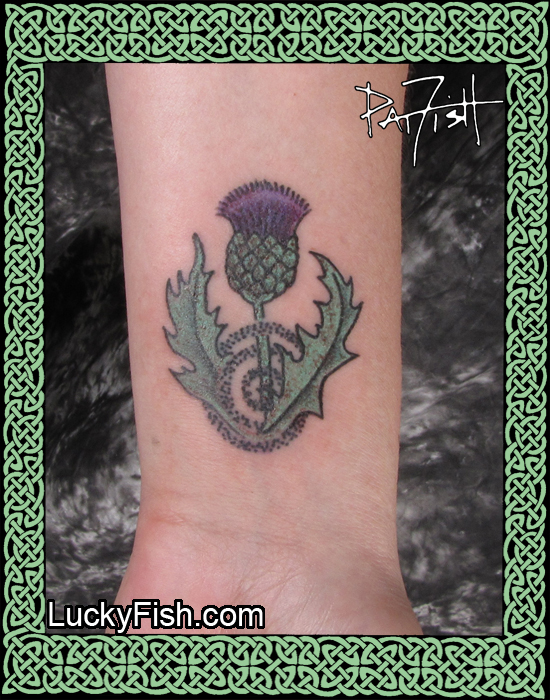 Thistle Magic Tattoo by Pat Fish