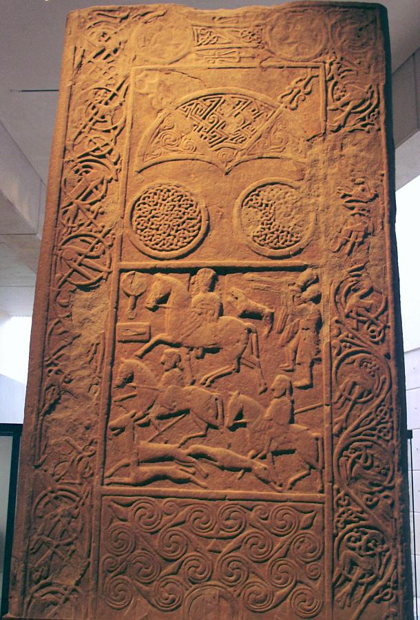 The Hilton of Cadboll stone now in the antiquities section of the National Museum of Scotland in Edinburgh.