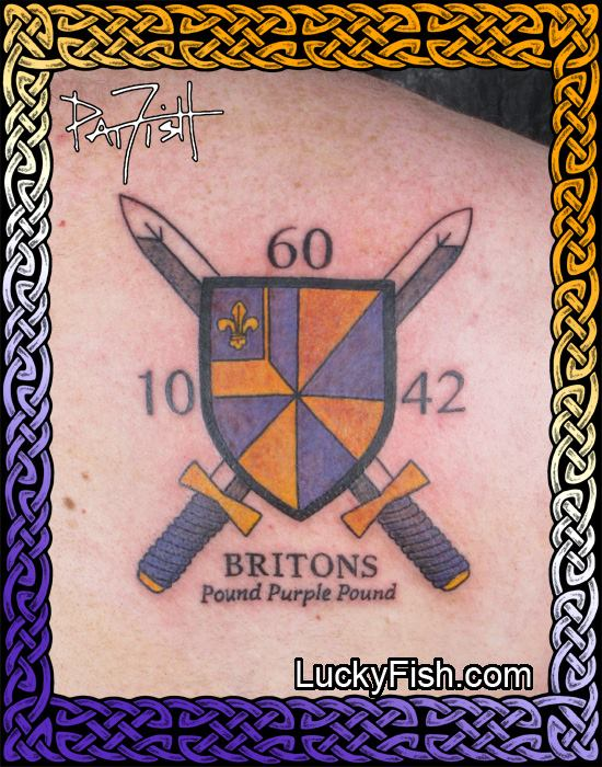 College Crest Alumni Tattoo by Pat FIsh