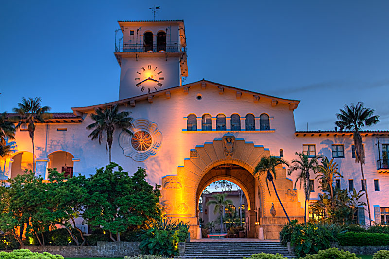 The Santa Barbara County Courthouse