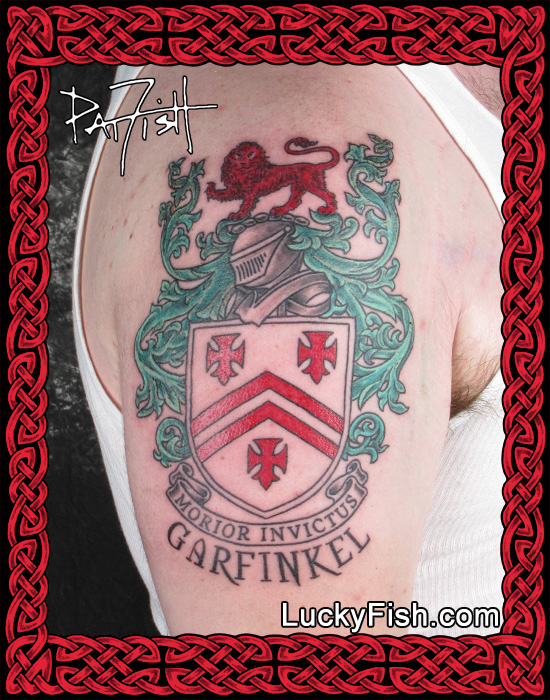 Garfinkel Family Crest Tattoo by Pat Fish
